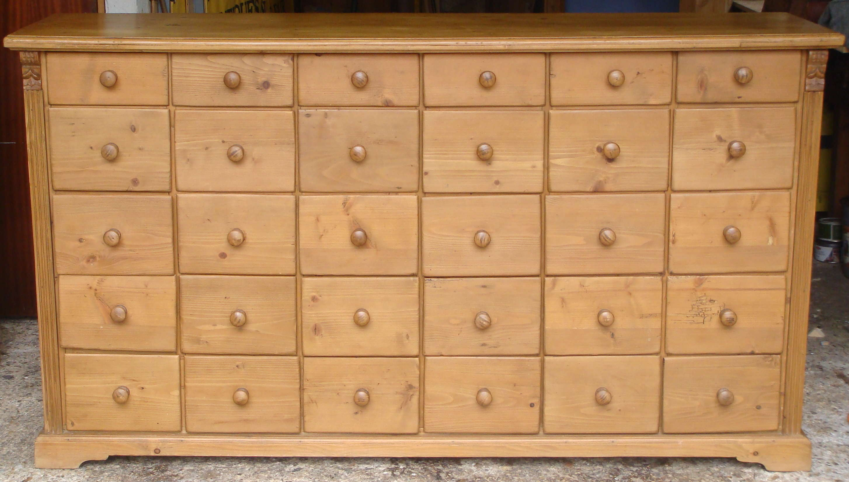 Vintage Pine Bank Of Drawers SOLD